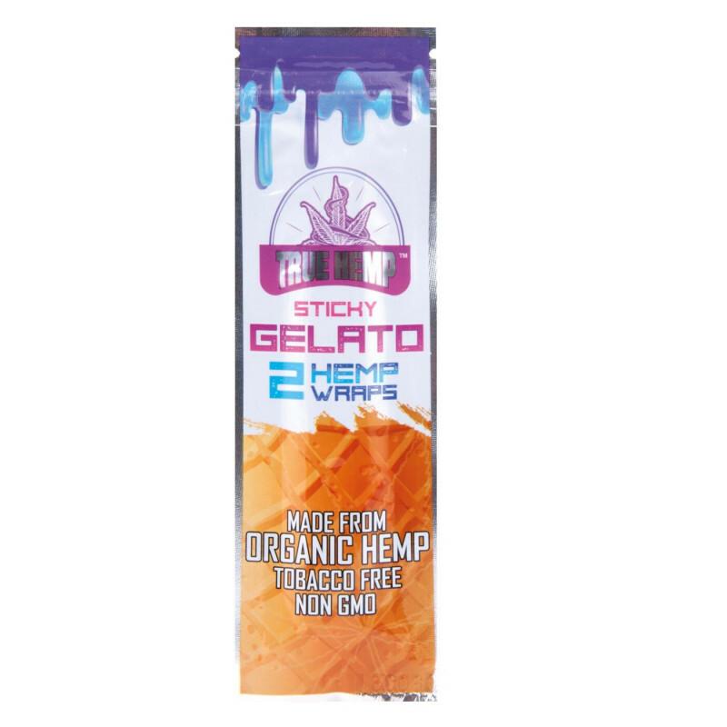 True Hemp Blunt Wraps Sticky Gelato 2 Pcs