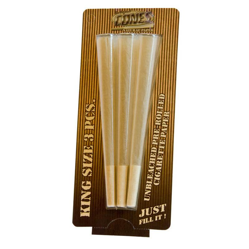Cones Blister Natural King Size Box 50 X 3 Pcs
