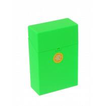 Clic Boxx Cigarette Box 20 Cig Fluorescent Design Green