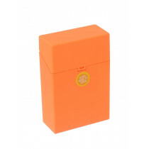 Clic Boxx Cigarette Box 20 Cig Fluorescent Design Orange