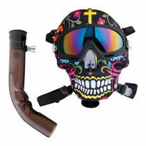 Dreamliner Acryl Bong 24 Cm With Multicolour Ski Mask