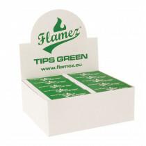 Flamez filter tip booklet green 50 pcs