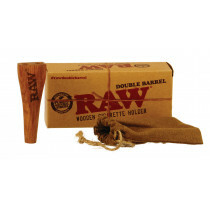 Raw Double Barrel Kingsize Cigarette Holder 1 Pc