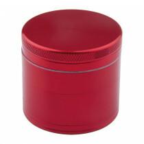 Aluminium grinder 4 parts 50mm red