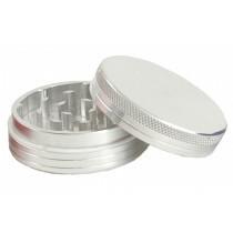 Aluminium grinder 2 parts 50 mm silver