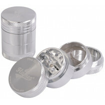 Flamez grinder 4 parts 30 mm silver