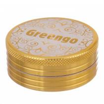 Greengo Grinder 2 Parts 50 Mm Gold