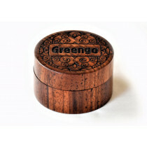 Wooden Metal Grinder Greengo Logo Carved 50 Mm 2 Parts