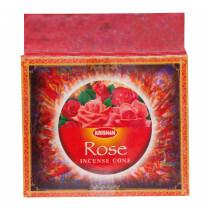 Incense cones rose (10 pcs)