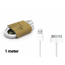 Grab N Go Apple Charging Cable 30 Pins 1M White
