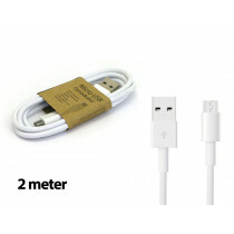 Grab N Go Micro Usb Charging Cable 2M White