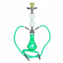 Shisha W 635 Green Swirl 53 Cm 2 Hose