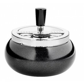 Angelo spinning ashtray black