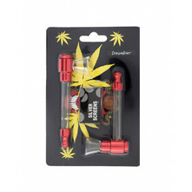Dreamliner 2 Metal And Glass Pipes Red