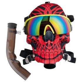 Dreamliner Acrylbong Black With Color Ski Mask