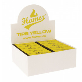 Flamez filter tip booklet yellow 50 pcs