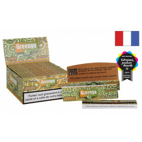French Display Greengo Unbleached King Size Slim 2 In 1 24Pc