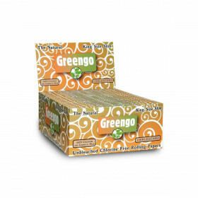 Display greengo unbleached king size slim 50 pcs
