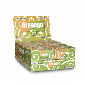 Display greengo unbleached slim rolls 44 mm 24 pcs