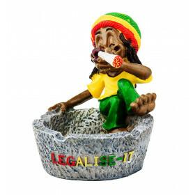 Rasta Ashtray Sitting Legalize-It 10,5 Cm
