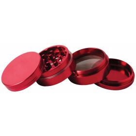 Aluminium grinder 4 parts 40mm red