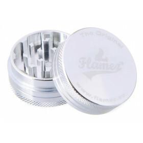 Flamez grinder 2 parts 40 mm silver