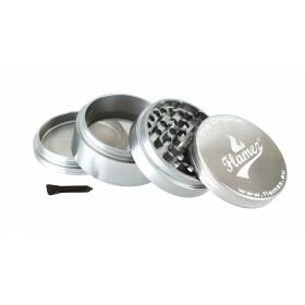Flamez grinder 4 parts 60 mm silver
