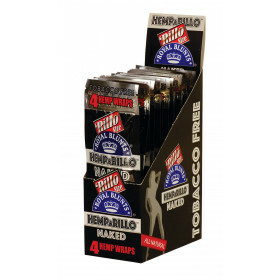Display Hemparillo Hemp Blunts Naked 15X4 Pcs