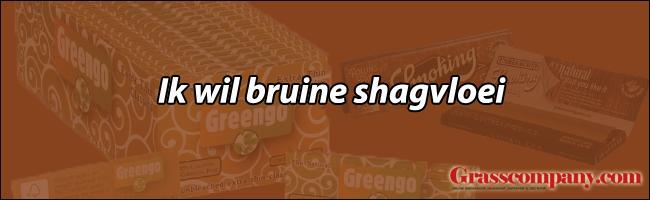 Ik wil bruine ongebleekte shagvloei