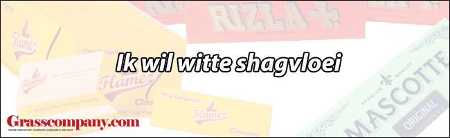 Ik wil gebleekte witte shagvloei